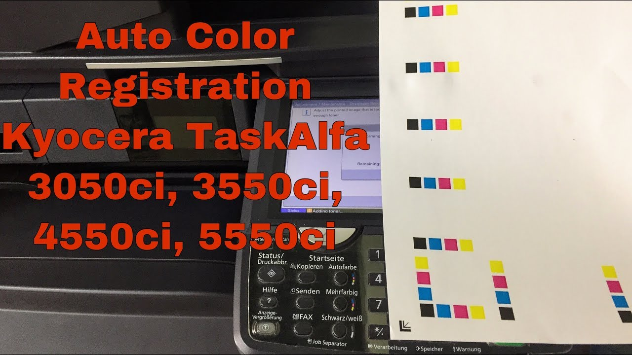 How to do Auto Color Registration Kyocera TasKalfa 3050ci/3501i/250ci/5550ci