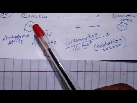 Organic Chemistry Conversion - Benzene to benzoic acid