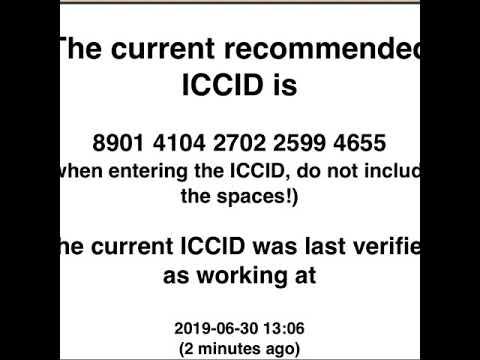 New iccid code June 2019
