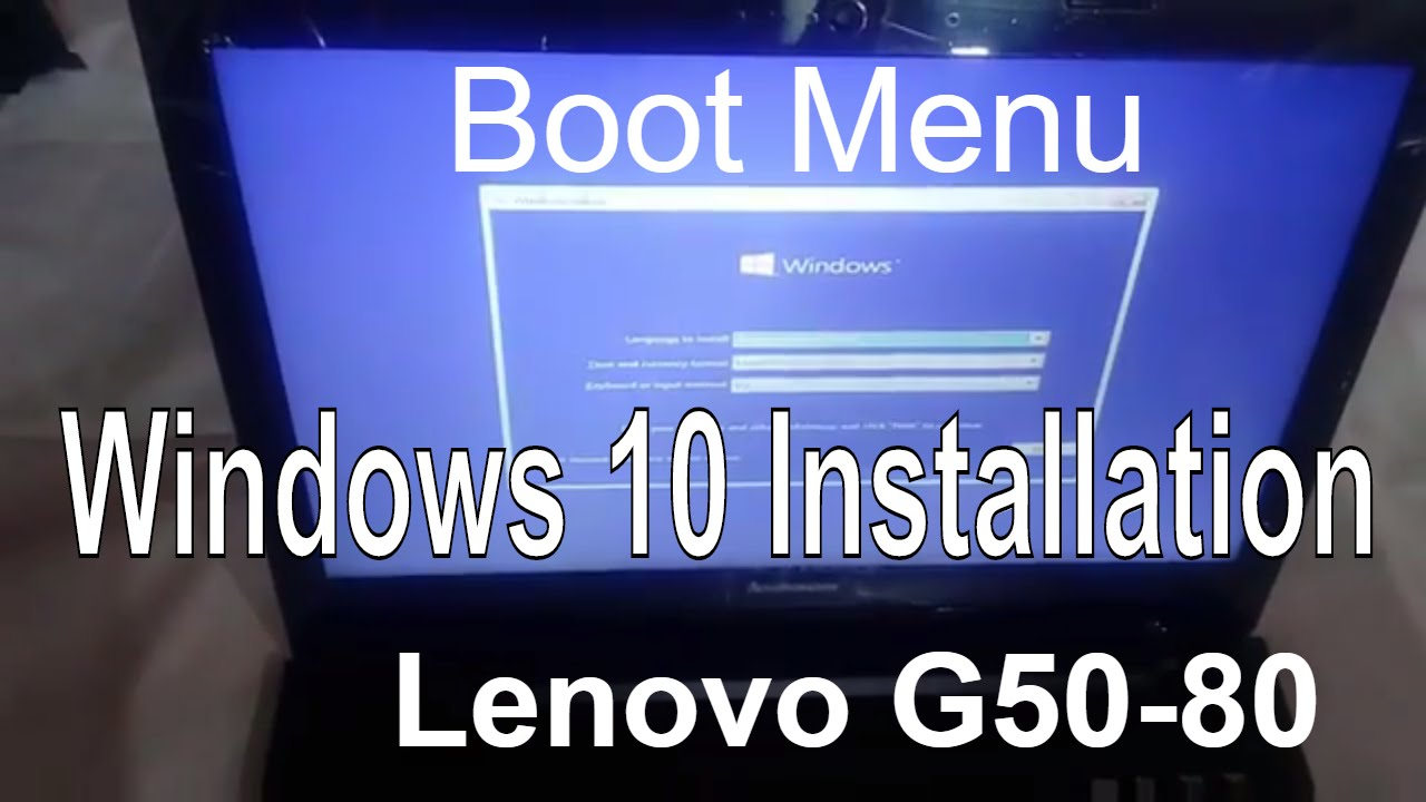 How to Install Windows 10 in Lenovo G50 80 Laptop | Bios Setup and Boot  Menu in Lenovo G50-80