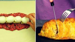 Всего 4 яйца и немного фарша! Безумно вкусный мясной пирог из слоеного теста! |Appetitno.TV