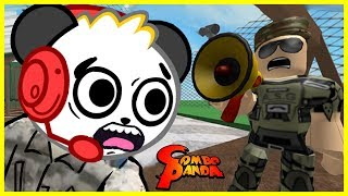 Roblox SENT TO BOOT CAMP Army Training Obby Let's Play with Combo Panda