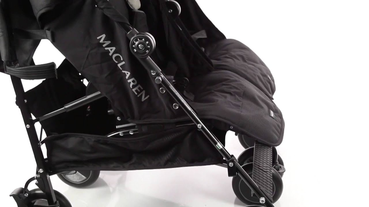 maclaren twin techo stroller kiddicare youtube. Black Bedroom Furniture Sets. Home Design Ideas