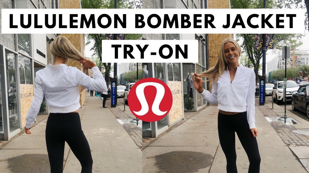 lululemon bomber jacket review worth 140 youtube