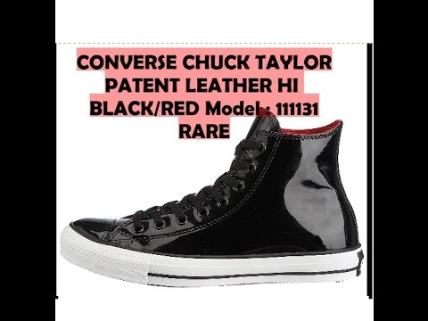 1ce5f0f3defd A Look at Chuck Taylor Converse Hi-tops Black Red Patent Leather Unisex  111131