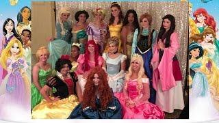 Disney Princess Party Elsa Anna Rapunzel Cinderella Ariel Tiana Aurora Olaf Sofia Jasmine
