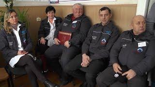 Лучших сотрудников Пинской спасательной станции наградили грамотами