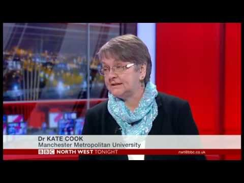Dr Kate Cook discusses Ched Evans's return to football on BBC North West Tonight