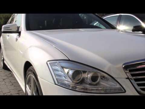 Аренда машины с водителем Mercedes мерседес 221 белыи