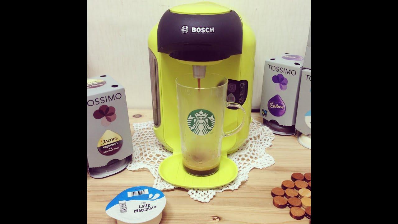 bosch tassimo vivy t12 lime yellow coffee machine tas1256. Black Bedroom Furniture Sets. Home Design Ideas