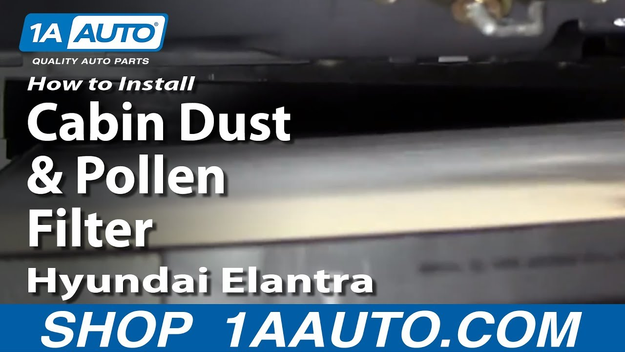 How To Install Replace Cabin Dust And Pollen Filter 2001