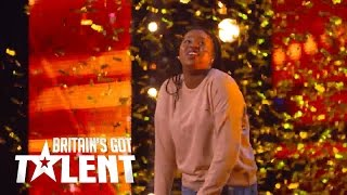 Sarah Ikumu gets the golden buzzer from Simon on BGT 2017!