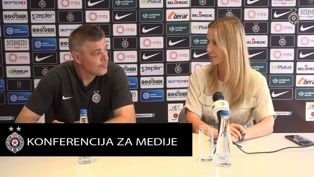 Konferencija za medije pred 2. kolo Linglong Tire SLS FK Novi Pazar  - FK Partizan