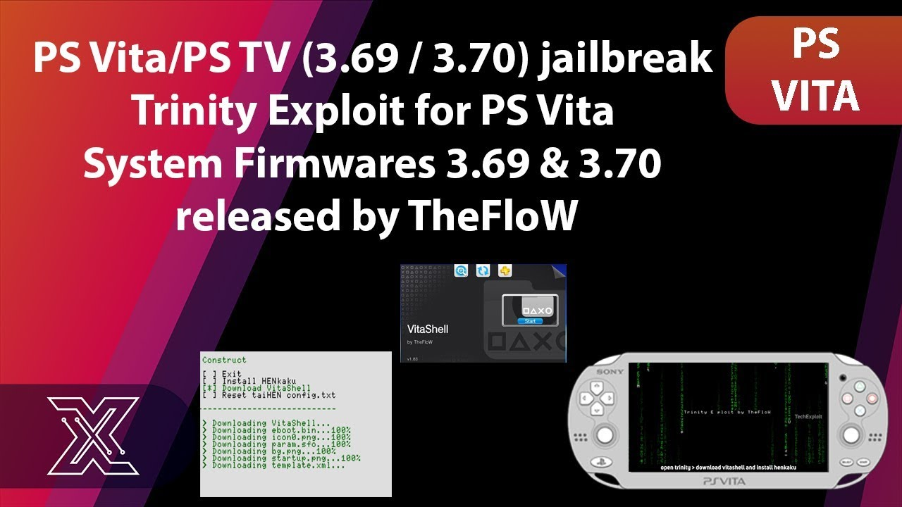 PS Vita and PS TV Trinity Exploit for Firmware 3 69 / 3 70