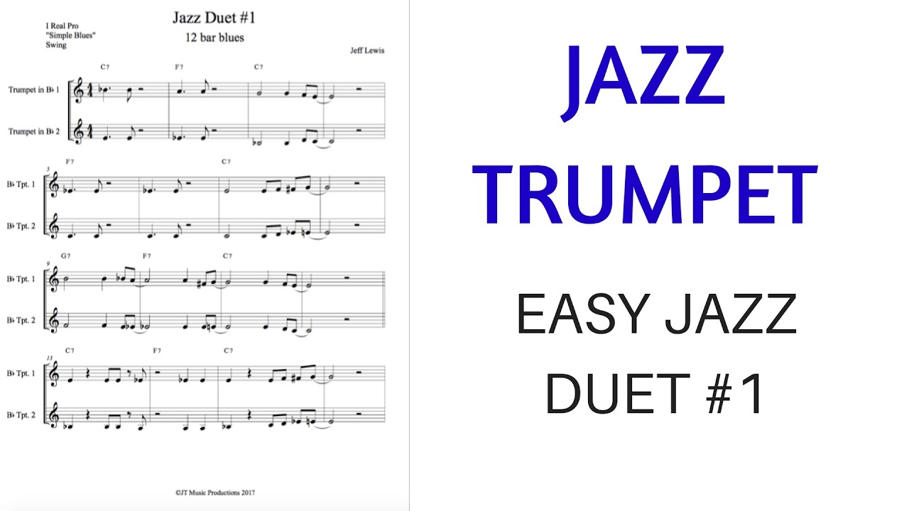 Easy Jazz Duet #1 for Trumpet (or tenor)