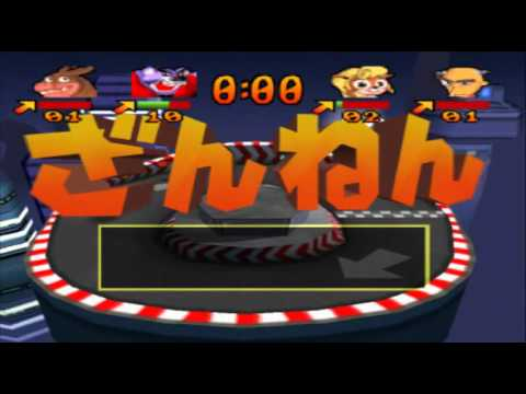 Crash Bash Japanese Part 21 (Co-op Walkthrough) Dot Dash [1/2] - They're Using The CAN CAN?