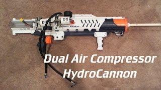 Dual Air Compressored Super Soaker HydroCannon