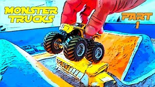 😃 DIY Kids Monster Truck Arena 😃 : Part 1 : Hot Wheels Monster Jam!