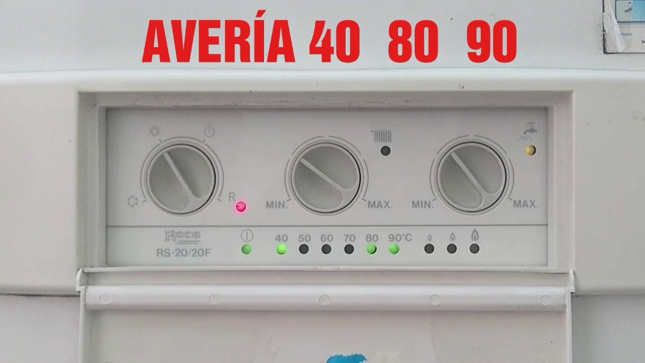 Roca de gas aver a 40 80 90 youtube for Averia caldera roca
