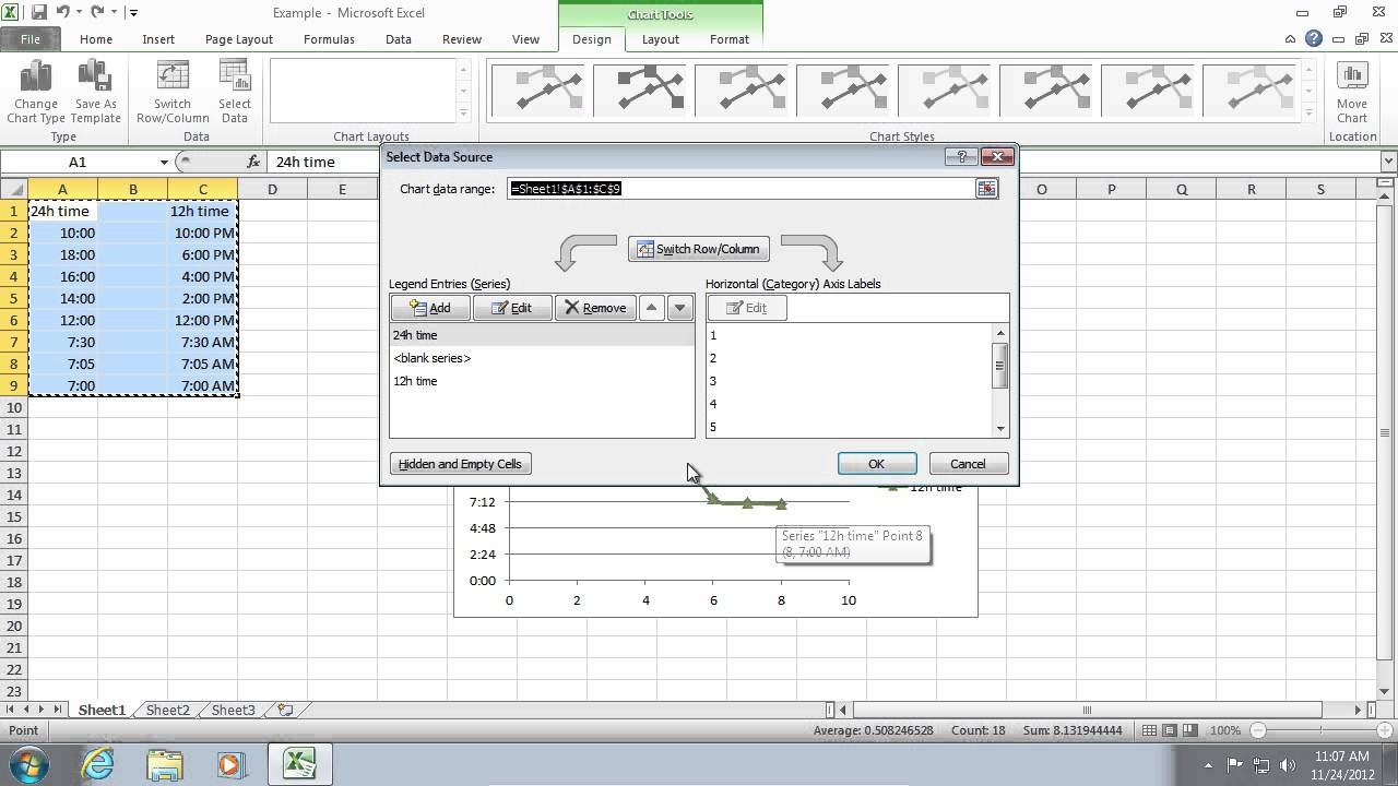How to set x and y axis in excel youtube how to set x and y axis in excel ccuart Gallery