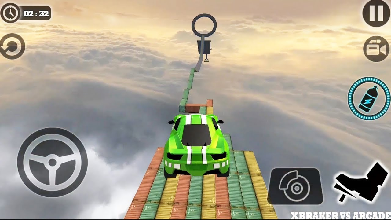 Impossible Stunt Car Tracks 3D | New Green Car Unlocked - Android GamePlay HD