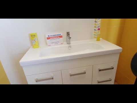 Mobile bagno sospeso moderno Edmo Tris Larghezza 100 cm