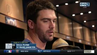 Royals' Brian Flynn excited to pick up first big-league win