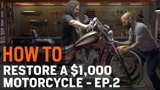 How To Restore a $1,000 Motorcycle - Ep. 2