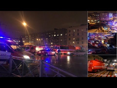 Supermarket in St Petersburg rocked by large explosion.