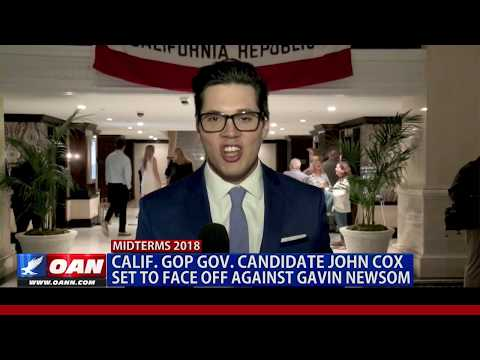 Calif. GOP Gov. Candidate John Cox Set to Face Off Against Gavin Newsom
