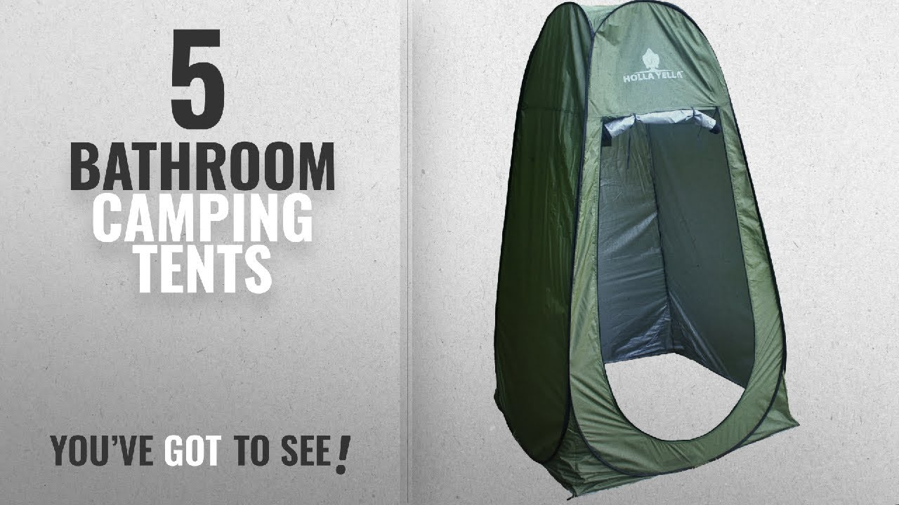 Top Bathroom Camping Tents Holla Yella Extra Large Pop Up - Camping bathroom tent