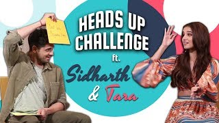 Sidharth Malhotra & Tara Sutaria's MOST ENTERTAINING Heads Up Challenge | Marjaavan