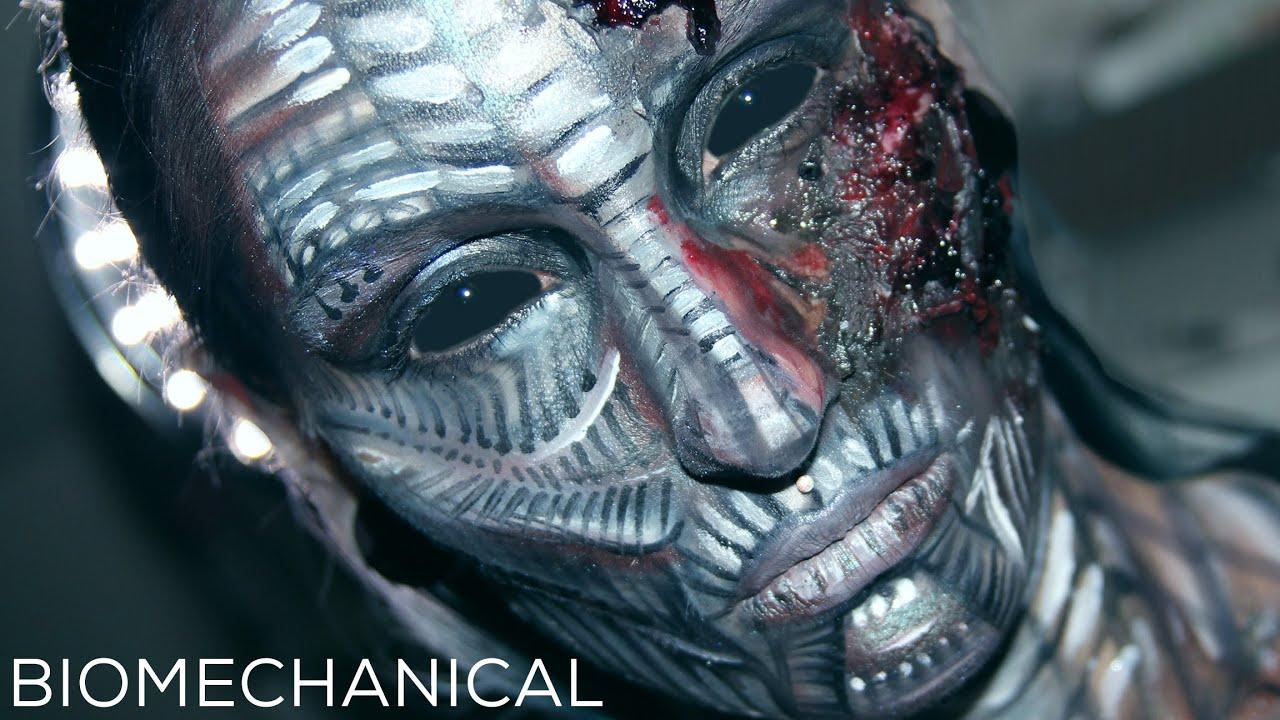 Biomechanical Alien Robot Makeup Tutorial / Giger Inspired ...
