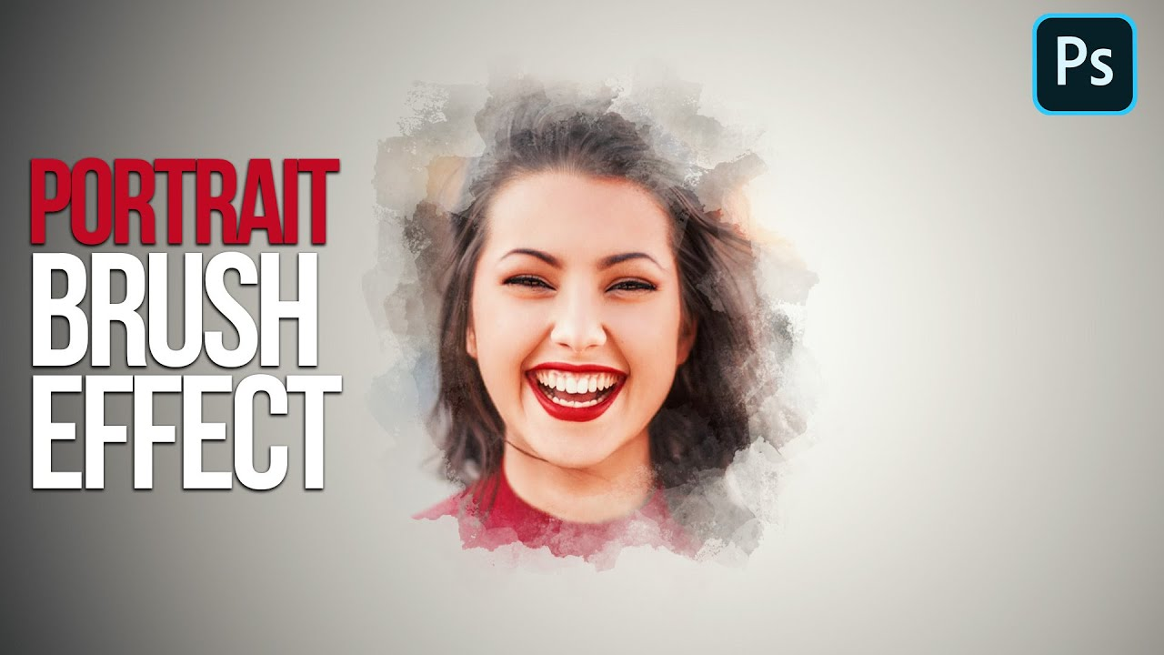 PORTRAIT BRUSH STROKE EFFECT PHOTOSHOP 2021 | ADOBE PHOTOSHOP 2021 #SHORTS