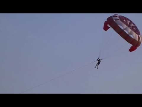 PARASAILING AT VISAKHAPATNAM CRESCENT ADVENTURES :9346773155 YOU TOO CAN FLY 100 METERS HEIGH