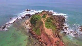 Mirissa Beach Flyover in 4K