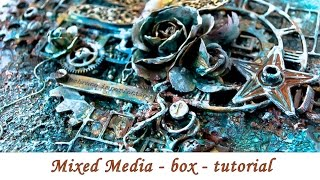 Mixed media - altered box - step by step tutorial