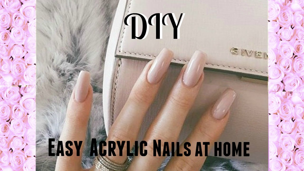 Easy DIY Acrylic Nails (Kiss Acrylic Nail Kit) - YouTube