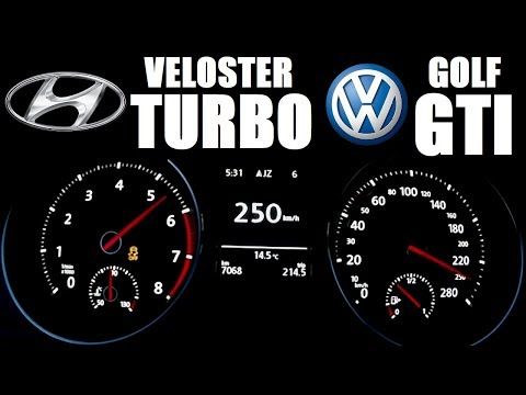 Veloster Turbo 200hp  Golf GTI 220hp Acceleration 0 230 km h