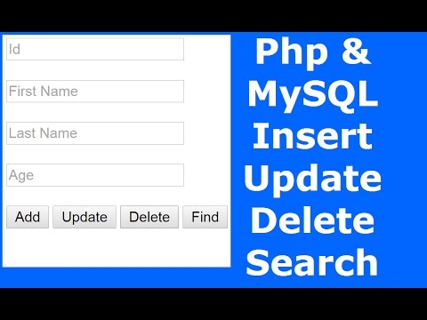 Php : How To Insert Update Delete Search Data In MySQL Database Using Php [ with source code ] 2