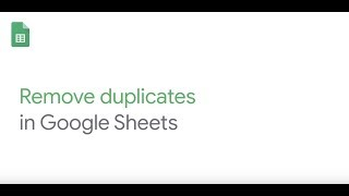 How To: Remove Duplicates