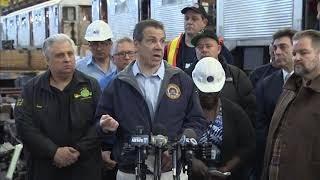 Governor Andrew M. Cuomo tours MTA New York City Transit Car Overhaul Shop