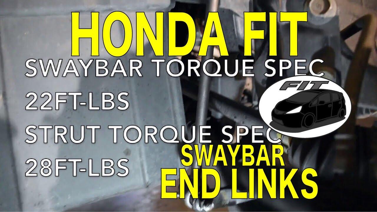 Honda Fit Sway Bar End Link Replacement (Honda Jazz) - YouTube