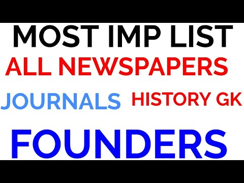 MOST important newspapers journals founders list during indian freedom struggle history gk modern