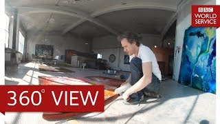 Artist Christian Awe in 360° - The Arts Hour on Tour 360° - BBC World Service