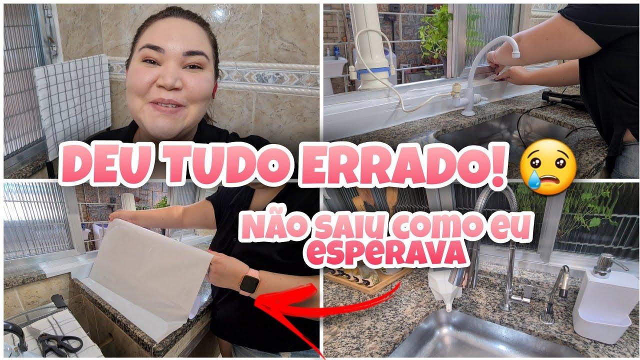 TENTEI ENVELOPAR A MINHA PIA E DEU TUDO ERRADO! | TROCAMOS A TORNEIRA | Lu Ferrari