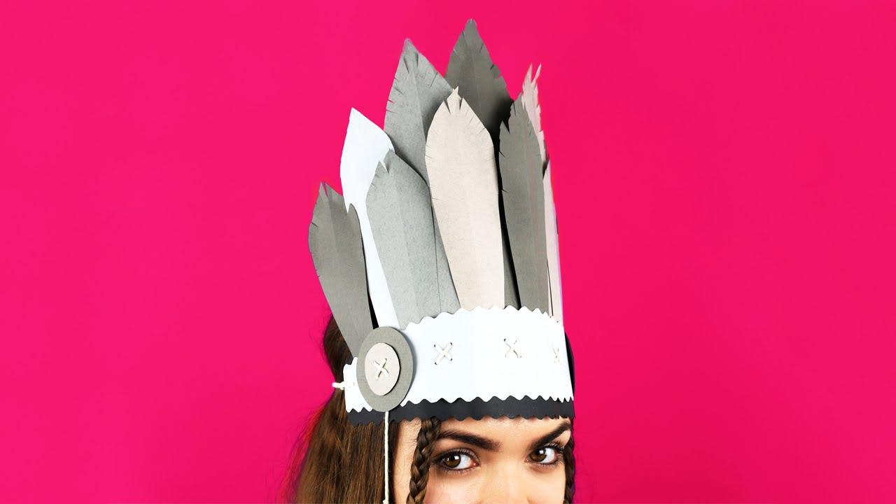 Diy indian headdress youtube diy indian headdress maxwellsz