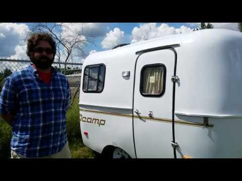 Walkthrough of the 2017 Scamp 13 (Deluxe) Fiberglass Trailer