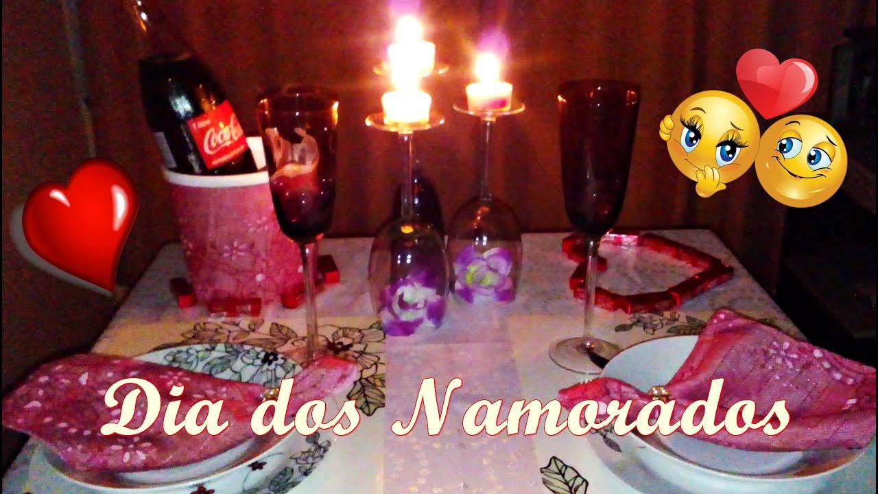 Super Mesa Jantar Romântico Simples mas Aconchegante- Dia dos Namorados  YE77