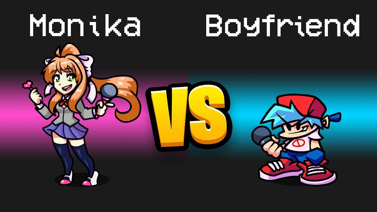 MONIKA vs. BOYFRIEND Imposter Role in Among Us...